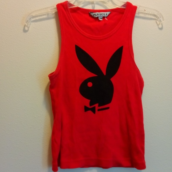 46da05403d0fd5 Vintage red playboy bunny womens tank crop top. M 5abd6ef0d39ca2ae1b3e91c2